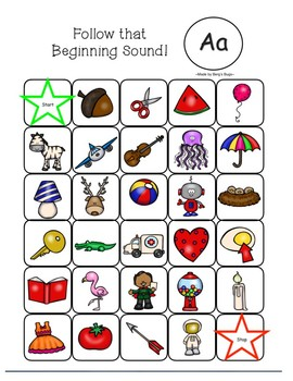Letter Sound Mazes- Beginning Sounds