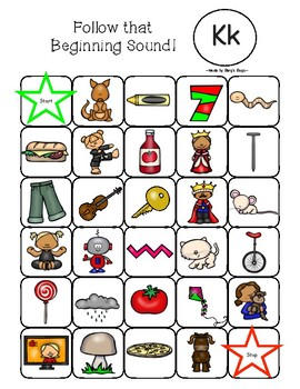 Beginning Sound Mazes - Beginning Sounds