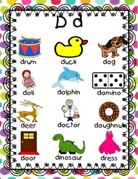 Letter Sound Mini Picture Word Walls!