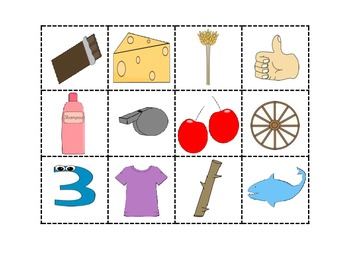 Letter Sound Picture Sorting