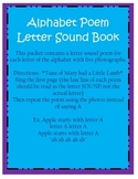 Letter Sound Poem Book