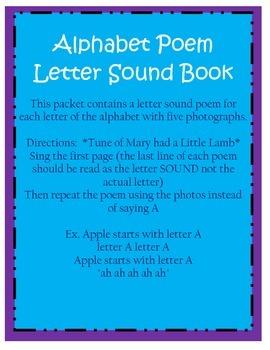 Letter Sound Poem Book