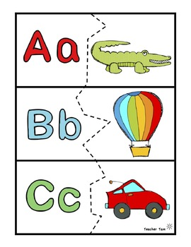Phonemic Awareness Activities | Letter Recognition Puzzles Blends Included