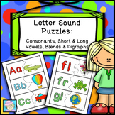 Alphabet Letters and Sounds Puzzles for Consonants Short &