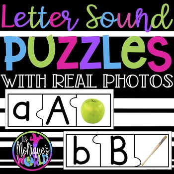 Letter Sound Puzzles with REAL photos