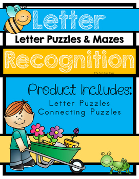Letter Sound Recognition - Letter Puzzles and Connecting Puzzles