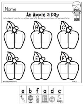 Letter Sound Review FREEBIE!  Apple Fun