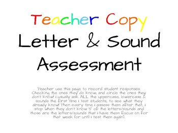 Letter & Sound Shooting Star Differentiated Assessment Tool