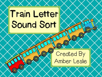 Letter Sound Sort- Trains