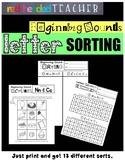 Letter Sound Sorts - Beginning Sounds