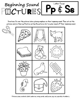 Letter Sound Sorts - Beginning Sounds
