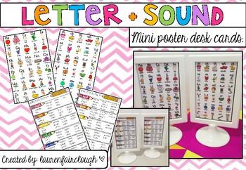 Letter Sound Synonym Mini Desk Posters