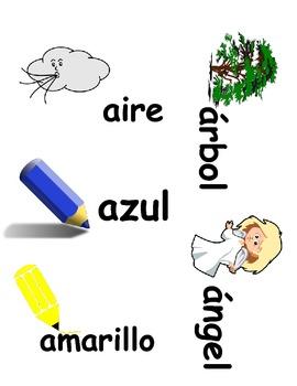 Letter Sound, Word Sort Center (Spanish)