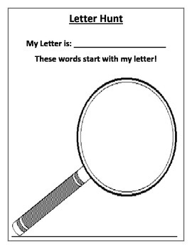 Letter Sound and Blend Hunt-A fun game for students to pra