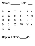 Letter, Sound, and Digraph Assessment