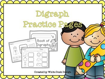 Letters and Digraph Practice Pages BUNDLE {NO PREP}