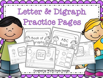 Letter Sound and Digraph Word Work - Handwriting Practice