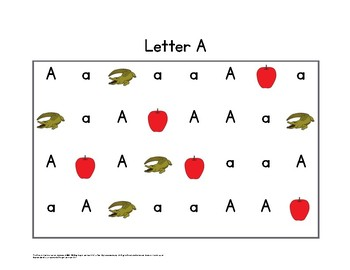 Letter (Sound and Name Recognition) Fluency Boards