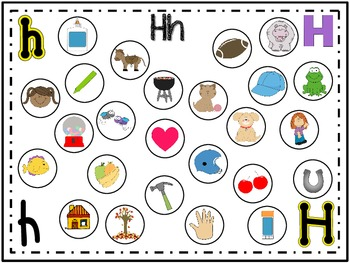 Letter & Sound recognition work mats