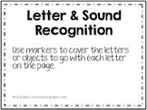 Letter & Sound recognition work mats
