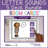 Letter Sounds 5 Deck Bundle   Distance Learning