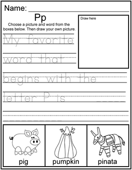 Letter Sounds A-Z Tracing and Writing: 26 Pages