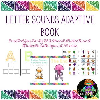 Letter Sounds Adaptive Book for students with Special Needs