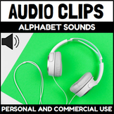 Letter Sounds Audio Clips Sound Files for Digital Activities
