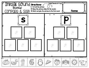Letter Sounds BIG REVIEW Compare & Sort