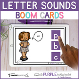 Letter Sounds BOOM Cards   Distance Learning