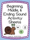 Letter Sounds - Beginning, Middle, and Ending Sounds!