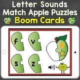 Letter Sounds, Beginning Sounds Apple Puzzles Digital Boom Cards