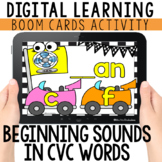 Letter Sounds: Beginning Sounds in CVC Words  BOOM CARDS™