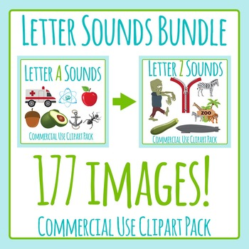 Letter Sounds Bundle - 177 Images - Clip Art Pack for Commercial Use