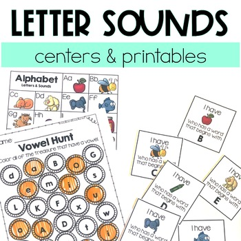 Letter Sounds Centers and Printables
