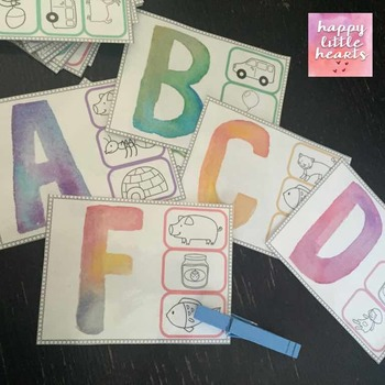 Letter Sounds Clip Cards
