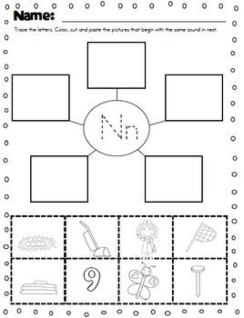 Letter Sounds Cut and Paste by Kinder League