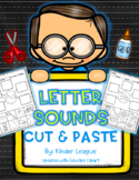 Letter Sounds Cut and Paste by Kinder League - EduClips Edition