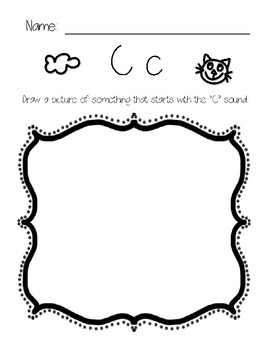Letter Sounds Drawing Pages