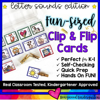 letter sounds fun sized clip flip cards morning work word