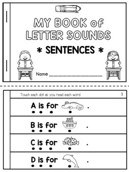 Letter Sounds Fluency Booklet