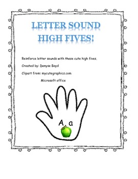 Letter Sounds High Fives
