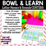 Letter Sounds & Identification Centers EDITABLE: Hands On