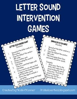 Letter Sounds Intervention Games