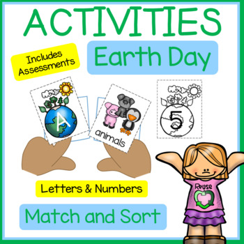 EARTH DAY Letter and Number Card Games