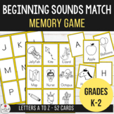 Letter Sounds - Matching Pairs Memory Game