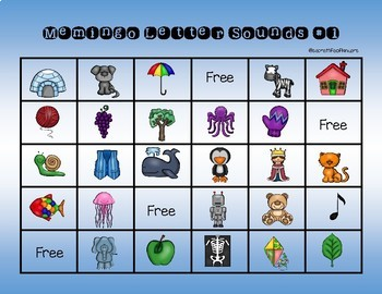 Letter Sounds Memingo: Memory plus Bingo