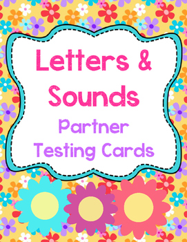 Letter & Sounds Partner Testing Cards