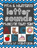 Letter Sounds Phonics Match Up File Folder Game