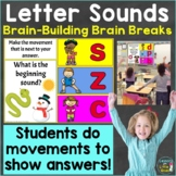 Letter Sounds Phonics with Brain Breaks Movement Google Sl